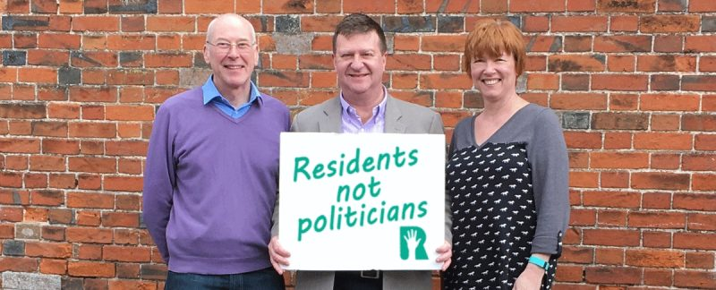 """What does it mean? """"Residents not Politicians"""""""