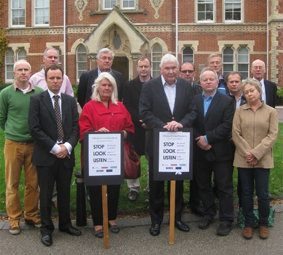 Uttlesford United Residents: a coalition of residents groups and parish council representatives from Elsenham, Henham, Newport, Saffron Walden, Stansted Mountfitchet & Takeley.
