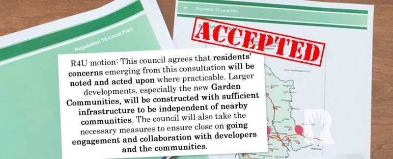 R4U secures last minute concession for residents ahead of draft Uttlesford Local Plan consultation