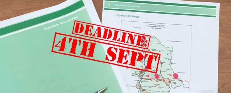 Deadline: Respond to UDC Local Plan consultation by Monday 4th
