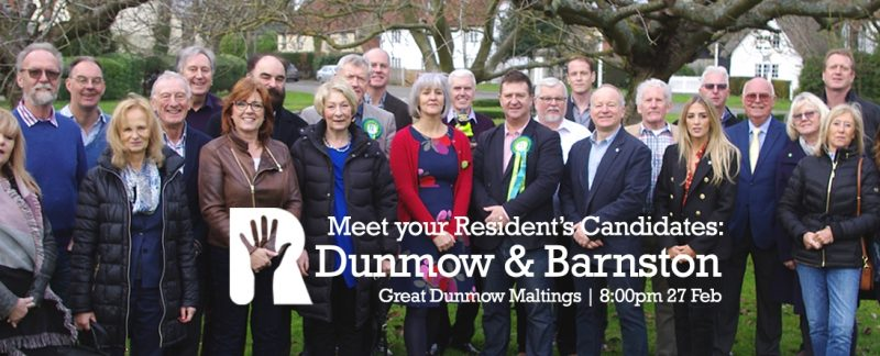 Event: Meet Your Dunmow and Barnston Wards Residents Candidates & Team @ Great Dunmow Maltings | 8:00pm 27th February 2019