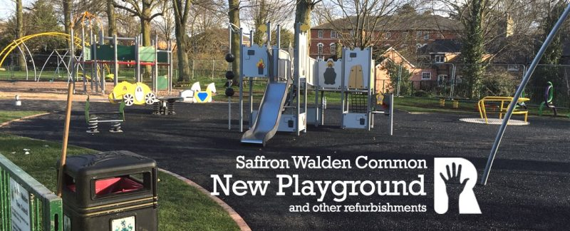 R4U excited as the new playground and other works on Saffron Walden Common nears completion