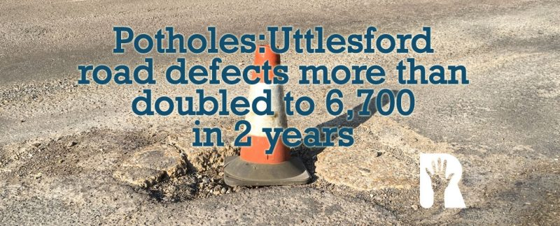Potholes more than doubled to 6,700 in two years